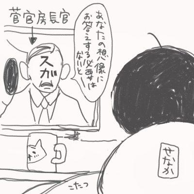 菅官房長官が映る。「あなたの想像にお答えする必要はないと-」